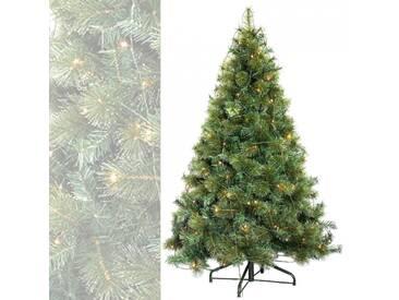 Künstlicher Weihnachtsbaum mit Beleuchtung 150 cm hoch beleuchtet