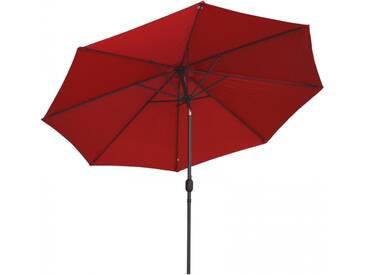 Sonnenschirm 3x3m mit Kurbel Alu mit UV-Schutz 50+ in rot