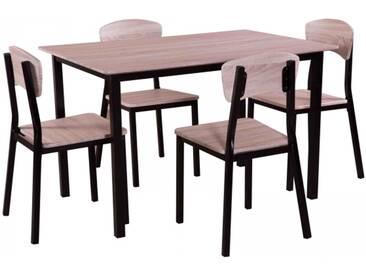 Esstischgruppe Sitzgruppe mit 4 Stühlen und Esstisch 120 x 80 cm