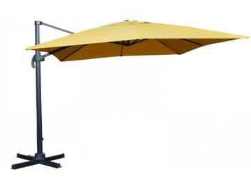 Ampelschirm Sonnenschirm schwenkbar 3x3 m gelb Sonnenschutz UV50+