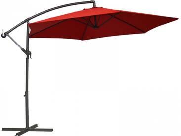 Ampelschirm/Sonnenschirm Alugestell 160 g/m2 Polyester rot UV Schutz