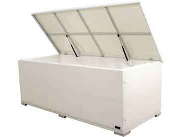OUTFLEXX Kissenbox, weiß, Polyrattan, 204x94x75cm