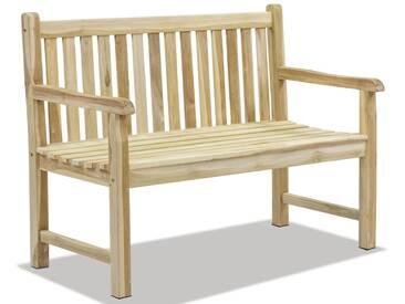 OUTFLEXX Ontario 2-Sitzer Gartenbank, natur, Teakholz, 120x62x92cm, fein geschliffen