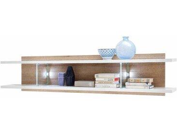 Wandboard in Weiß Eiche 3D Optik LED Beleuchtung