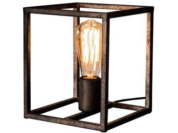 Loft Design Tischleuchte in Altsilberfarben Metall