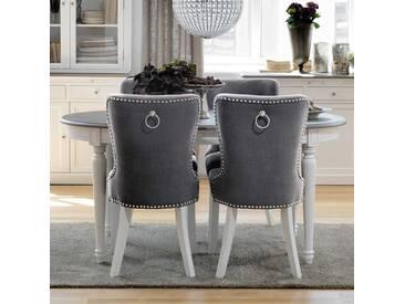 Esstischgruppe im Vintage Design ovalem Tisch (5-teilig)