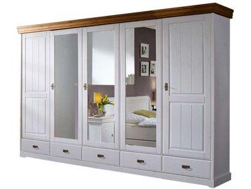 Schlafzimmer Kleiderschrank in Weiß Spiegelglas