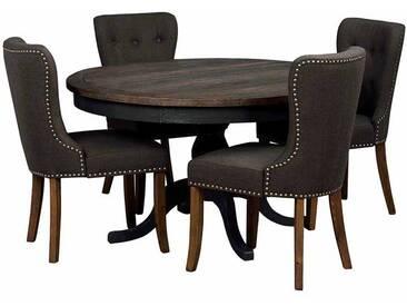 Esstischgruppe mit rundem Tisch Landhaus (5-teilig)