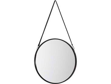 Flur Spiegel in Schwarz rund