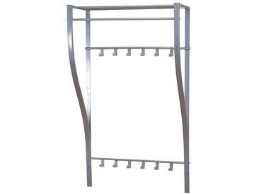 Wandgarderobe aus Stahl Silberfarben