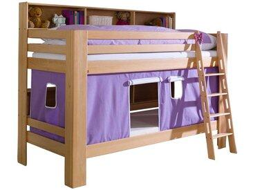 Kinderetagenbett mit Vorhang Lila