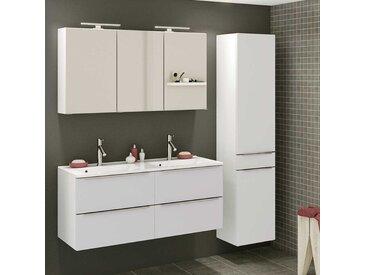 Bad Set in Weiß zwei Personen Waschtisch (3-teilig)