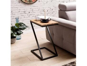Z-Form Tisch aus Akazie Massivholz Metall