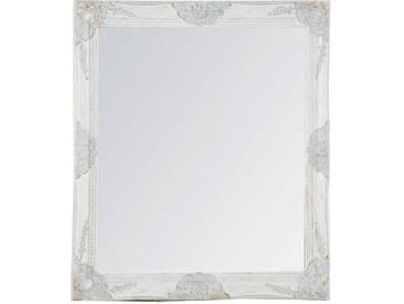 Barockspiegel in Weiß Rahmen