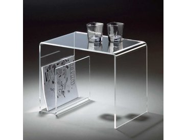 Sofatisch mit Zeitungsablage Acrylglas