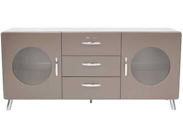 Design Sideboard in Grau lackiert Retro