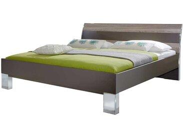 Komfortbett in Braun Grau Eiche Made in Germany