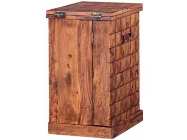 Massivholz Barschrank aus Sheesham lackiert rustikal