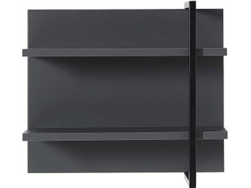 Wandregal in dunkel Grau und Schwarz 60 cm breit
