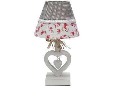 Romantische Lampe mit Herz Fuß Weiß