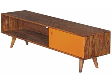 TV Tisch aus Sheesham Massivholz Orange 140 cm