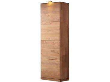 Hochschrank aus Kernbuche Massivholz Beleuchtung