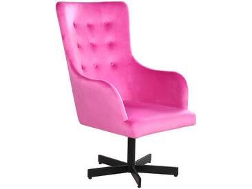 Retro Sessel in Pink Samtbezug