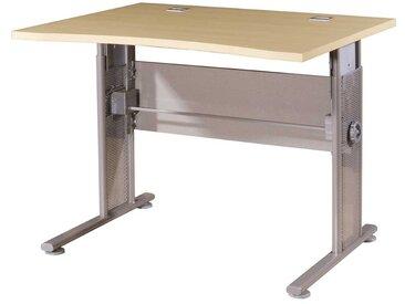 Höhenverstellbarer Schreibtisch in Ahorn Dekor 100 cm breit