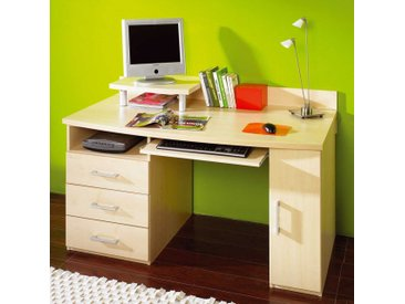 PC-Tisch in Ahorn Dekor Tastaturauszug
