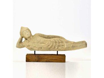Deko Figur als Buddha Beige