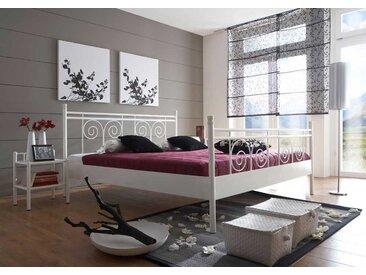 Designerbett aus Metall Weiß