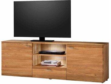 TV Lowboard aus Eiche Massivholz LED Beleuchtung