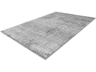 Kurzflor Teppich in Silberfarben 2 cm hoch