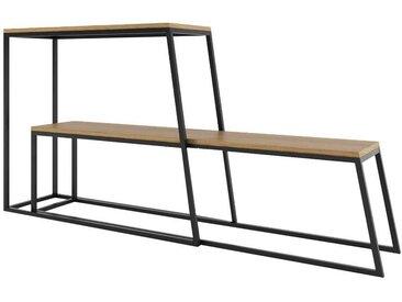 Standregal Set mit Eiche furniert modern (2-teilig)