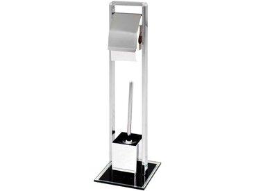 WC Rollenhalter mit Bürste Chrom
