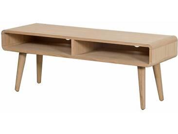 Retro TV Tisch aus Eiche Massivholz Bianco geölt