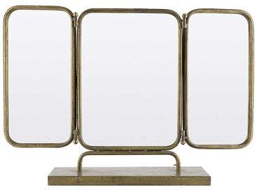 Klappbarer Spiegel in Messingfarben Eisen