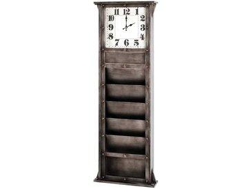 Modernes Memoboard mit Uhr 120 cm hoch