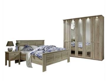 Schlafzimmer Einrichtung in Eiche komplett (4-teilig)