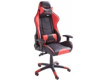 Racer Schreibtischstuhl in Schwarz Rot höhenverstellbar