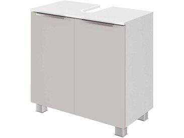Waschkommode in Grau und Weiß 2 Türen