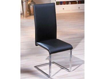Swingstuhl in Schwarz modern