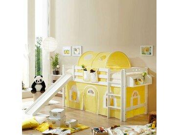 Rutschbett in Gelb-Weiß Rutsche
