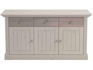 Esszimmer Sideboard im Landhausstil Kiefer massiv White Wash Braun