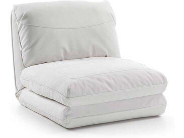 Klappsessel zum Schlafen Weiß Kunstleder