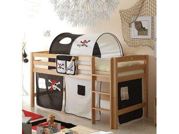 Kinderhochbett im Piraten Design Tunnel