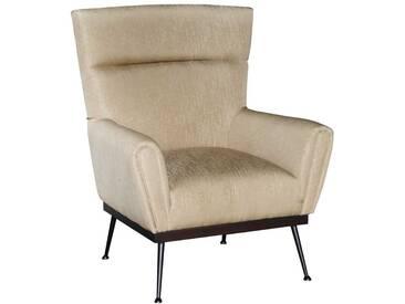 Retro Sessel aus Webstoff Beige