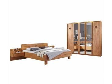 Schlafzimmer Einrichtung aus Erle Landhaus (4-teilig)
