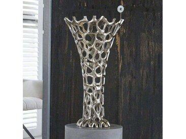 Standvase aus Aluminium verziert modern