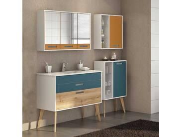 Badmöbel Set im skandinavischen Design Bunt (4-teilig)